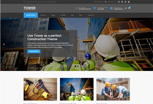Tower Construction WordPress Theme