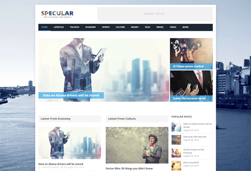 Specular Magazine WordPress Theme