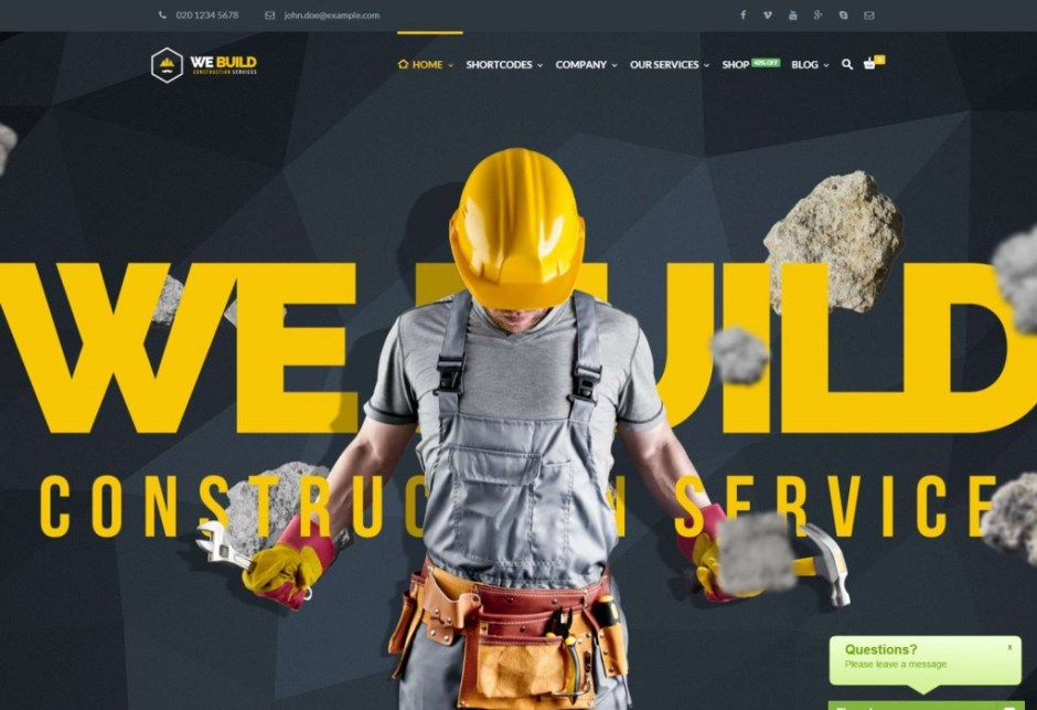 Best Construction Company WordPress Theme 2016 We Build-compressed