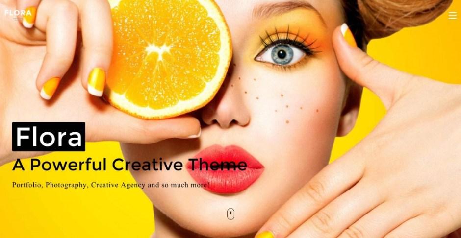 Flora Responsive WordPress Theme for Creative Multi Purpose-compressed
