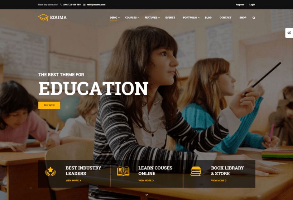 -1 Education WordPress Theme for 2016