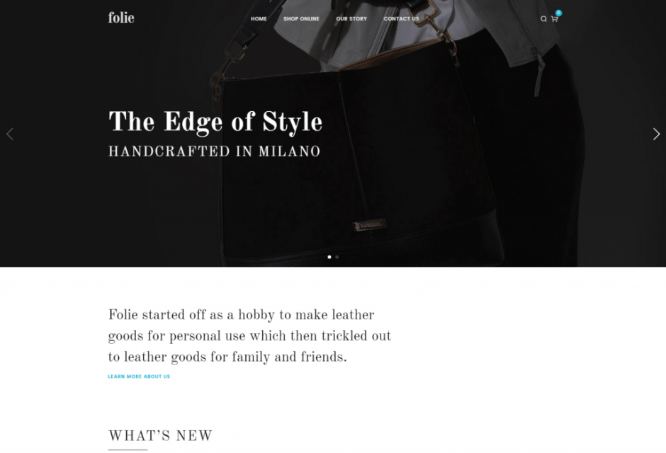 Folie – Shop Classic WP Template – Just another WordPress site
