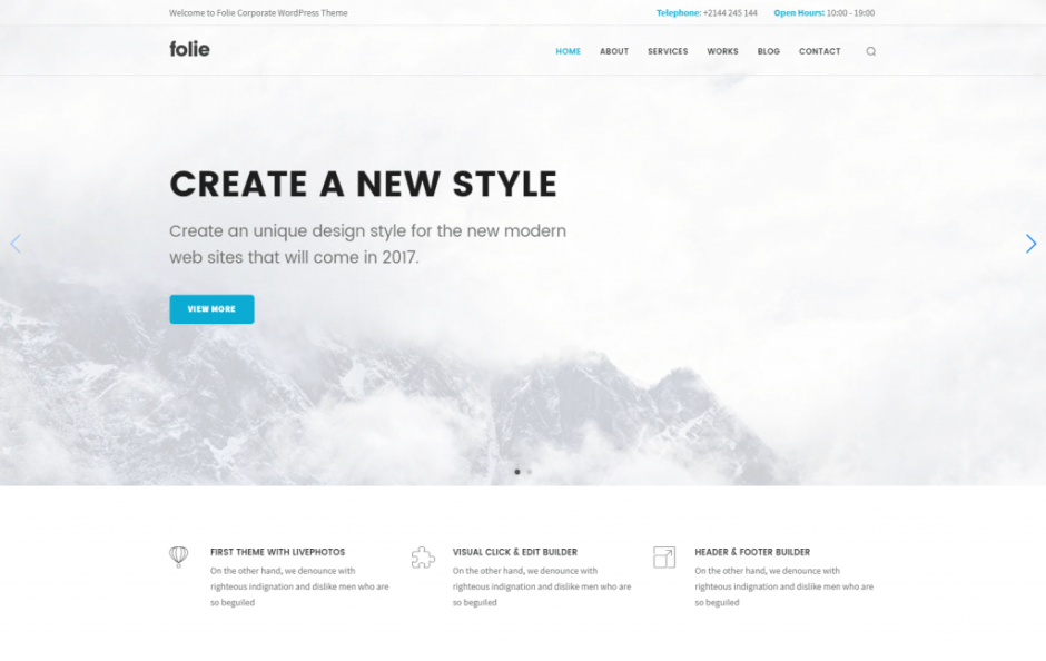 Folie – Corporate Business WP Template