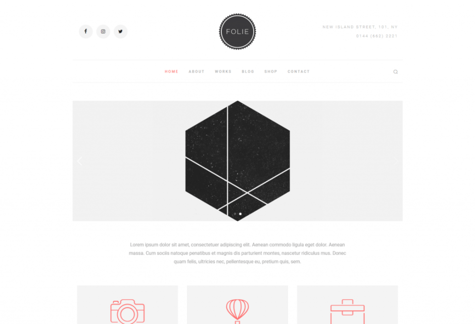 Folie – The Website Builder – Minimal Template – Just another WordPress site