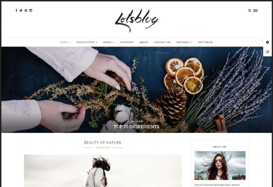 Lets Blog Responsive WordPress Blog Theme – Just another WordPress site-compressed