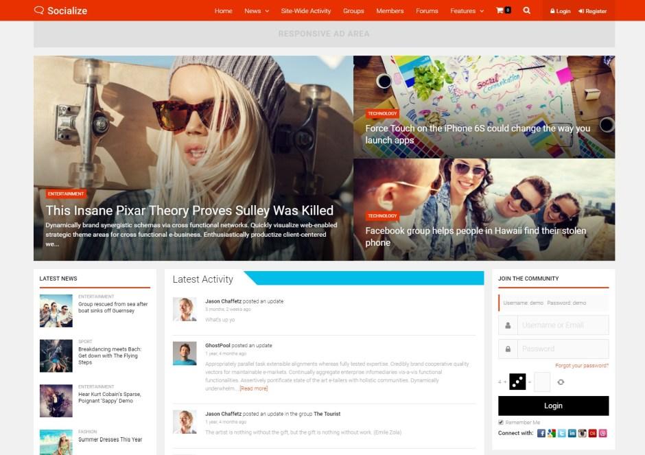 Socialize Multi Purpose BuddyPress Theme-compressed