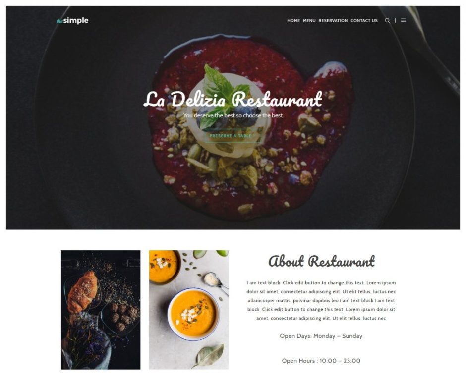 The Simple – Restaurant – Just another WordPress site-compressed