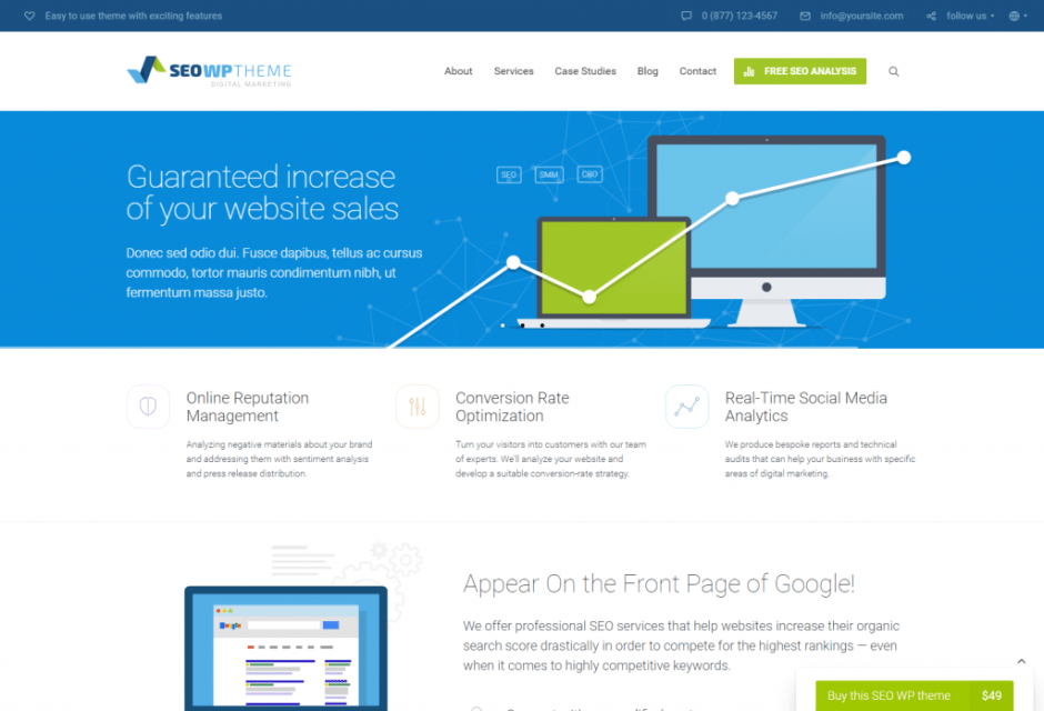 SEO WP Best Selling WP Theme for Online Marketing Experts