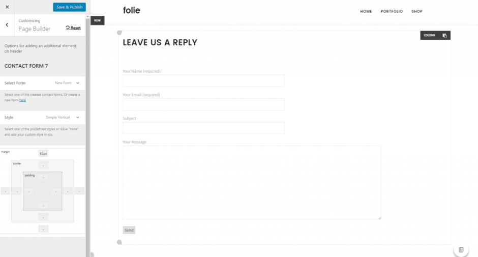 Customize Blog – Folie Wp Doc