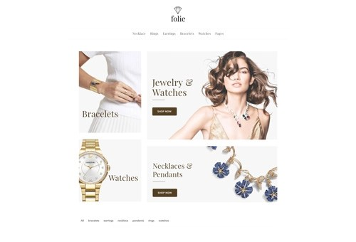 Folie Shop Grid WordPress Theme