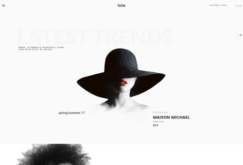 Folie Shop Minimal WordPress Theme