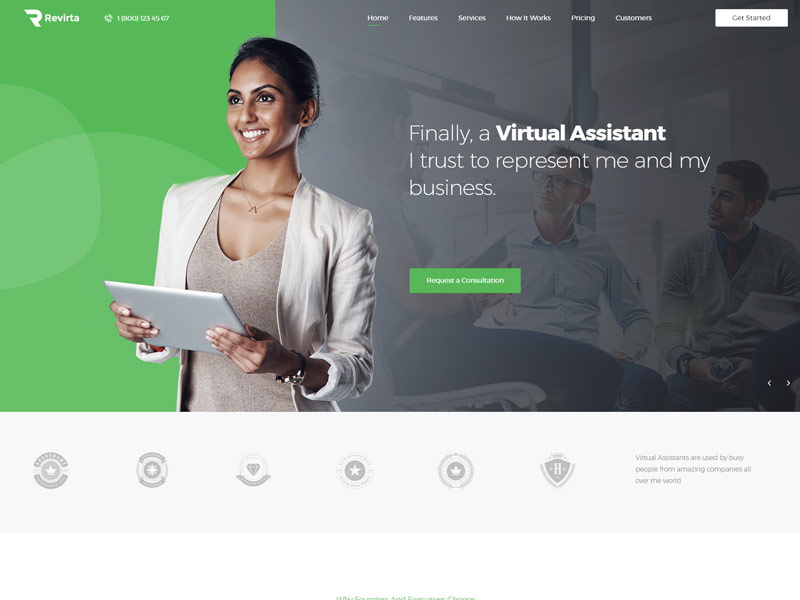 10+ Best Virtual Assistant WordPress Themes - Codeless