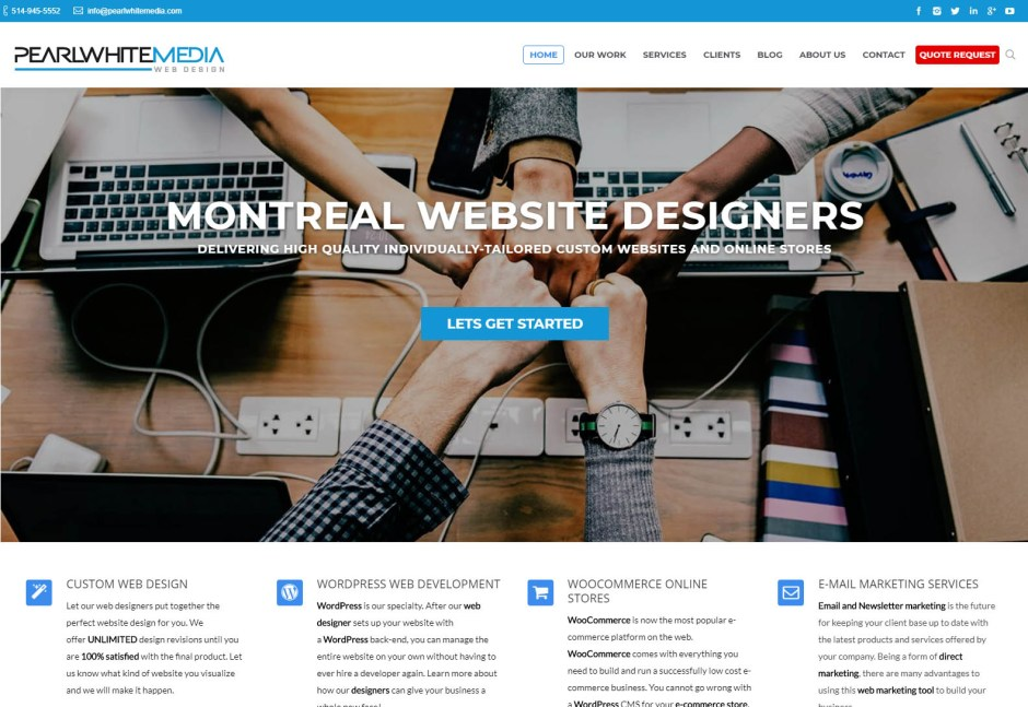 Pearl White Media - Web design agencies Montreal