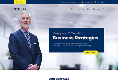 Specular Finance WordPress Theme