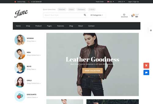 June Shop 4 WordPress Theme