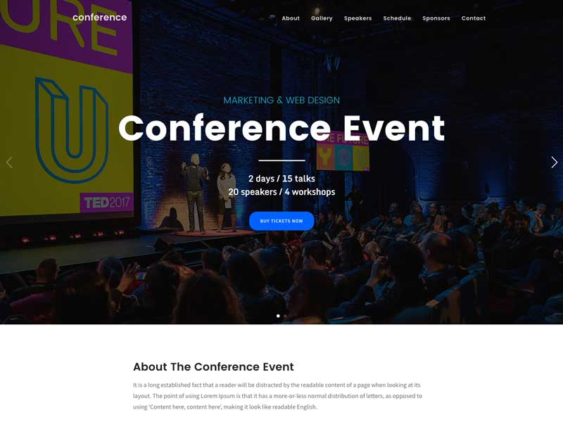conference 1 10+ Best Speaker WordPress Themes of 2019