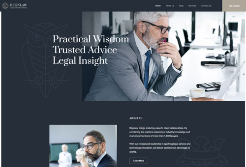 Regn Lawyer WordPress Theme