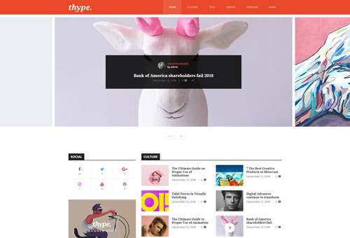 Thype Magazine Slider WordPress Theme