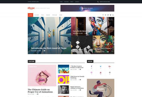 Thype Bold WordPress Theme