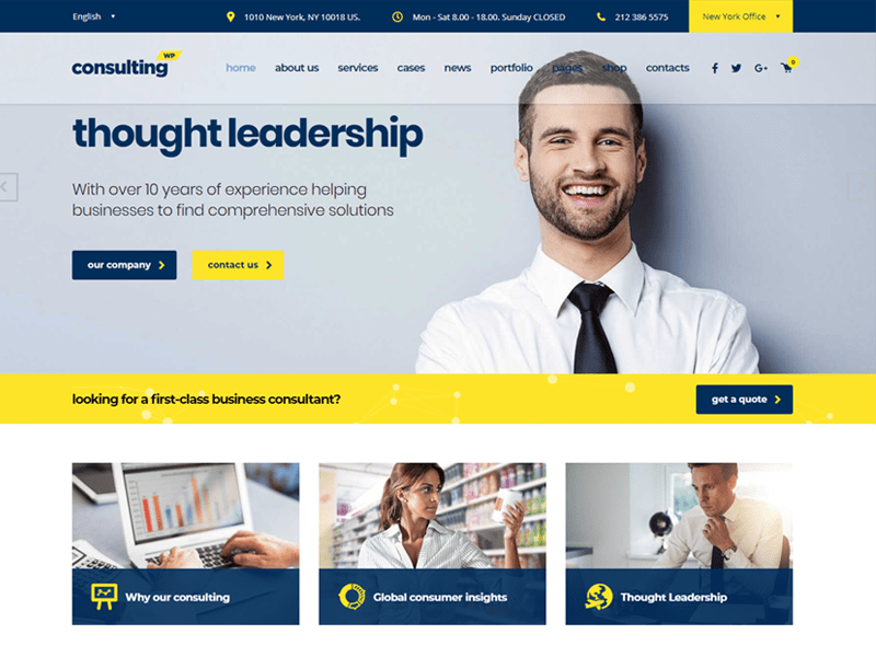 Consulting Business Finance WordPress
