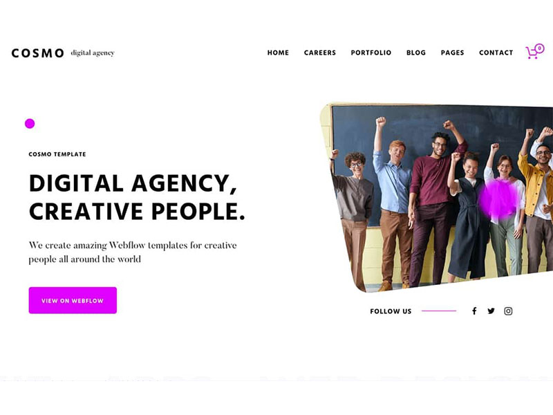 Cosmo 1 15+ Best Webflow Website Templates (Themes) to Start Building your Next Website with Ease