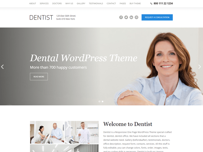 The-Dentist-Theme dental wordpress themes
