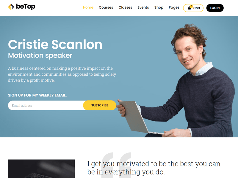 betop wordpress themes for speakers