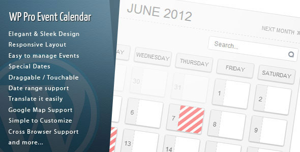 WordPress Pro Event Calendar v3.0.4