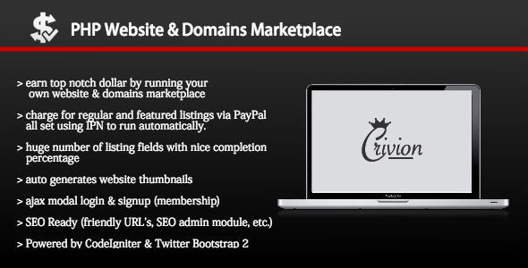 PHP Website and Domains Marketplace v1.8