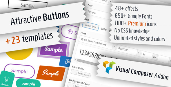 Attractive Buttons for Visual Composer