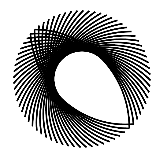 Rotating shapes to create a circular pattern in Adobe