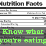 Nutrition Facts: Know what you're eating.