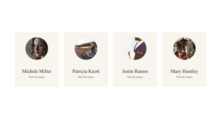 Profile Card UI Design Cool Hover Effect