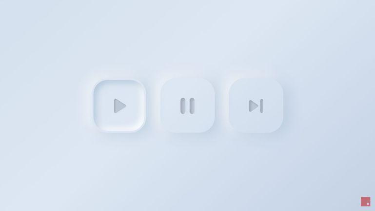 Neumorphism Soft UI Buttons