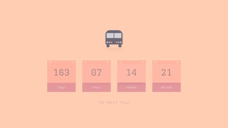 Vue Countdown: soon I will be with you