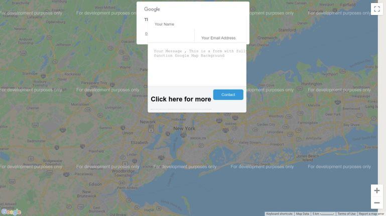 Input Form on Google map background