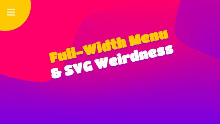 Full Width JavaScript Menu SVG Animation
