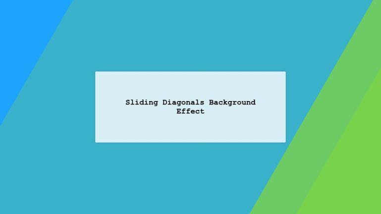 Sliding Diagonals Background Effect