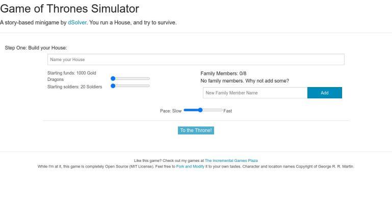 Game of Thrones Simulator