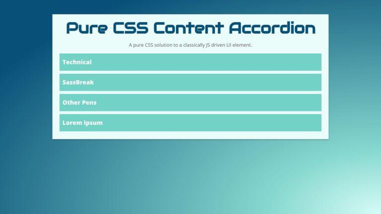 Pure CSS Content Accordion