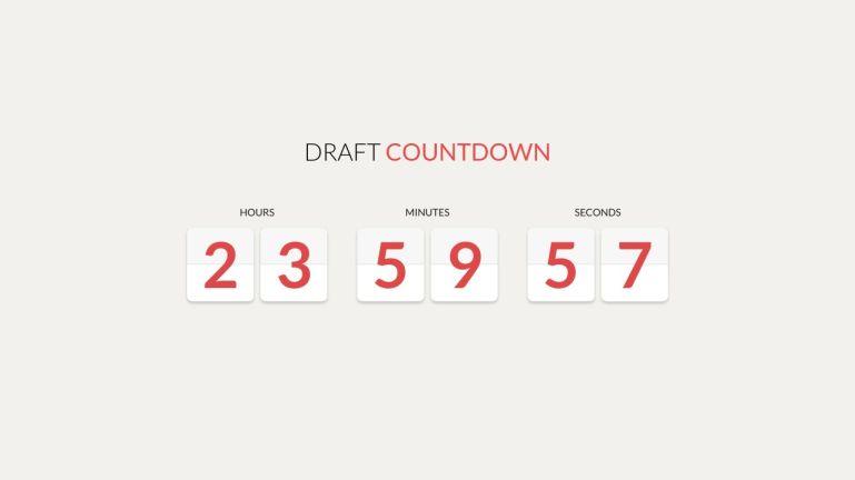 Draft Countdown