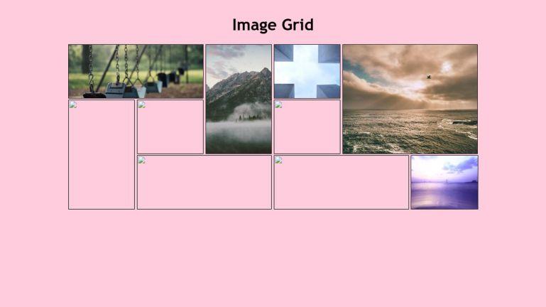 Image Grid Responsive - CSS Grid