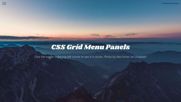 CSS Grid Menu Panels