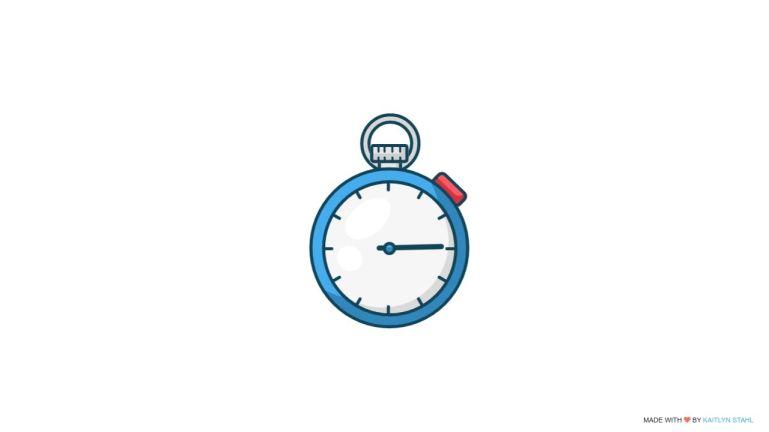SVG Interactive Stopwatch Animation