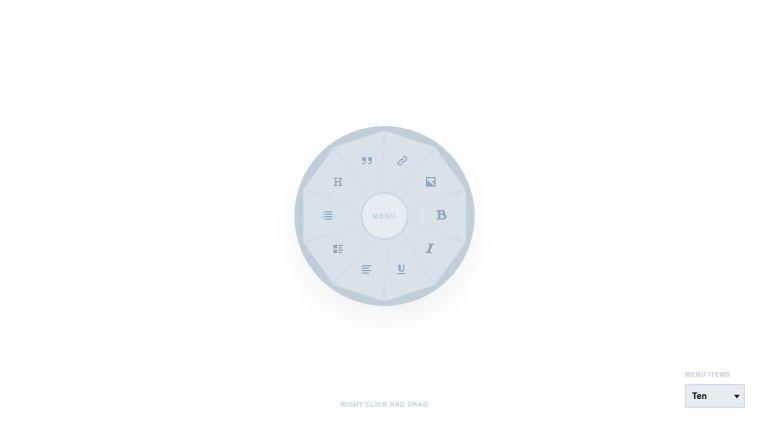 Radial/Circular Menu Concept
