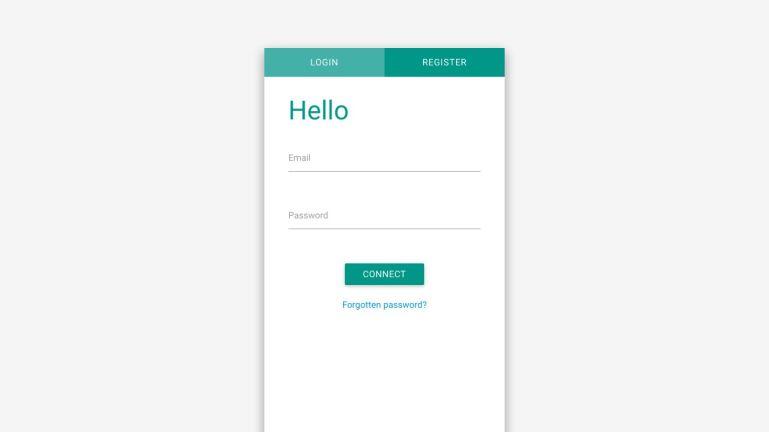 Login / register material design form