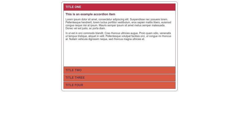 CSS3 Accordion (No Javascript) - Vertical - Single Visible