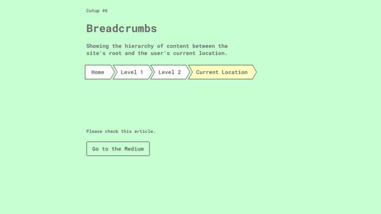 CSS Cut-Up Breadcrumbs