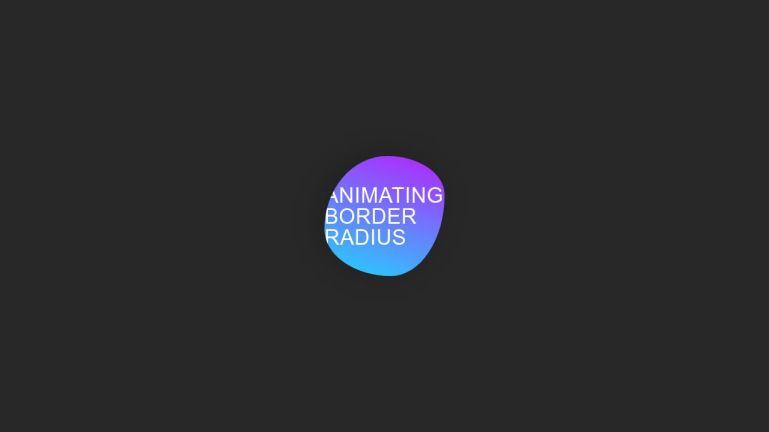 Animating border-radius