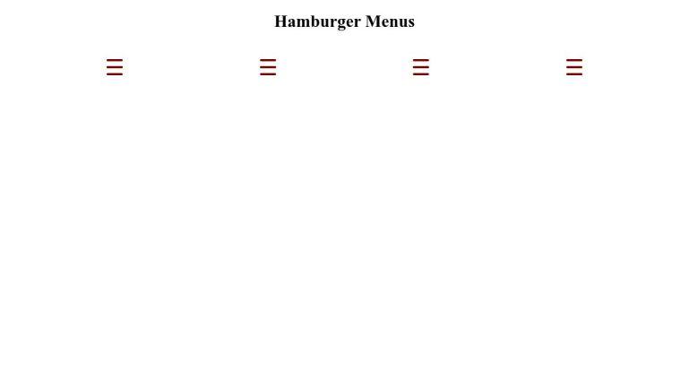 CSS Hamburger Menus